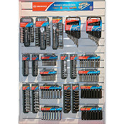 Apex Tool Group 21 Piece Socket And Wrench Set Display, 6 Point/12 Point, 1/EA, #CMHTSWS