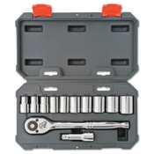 Apex Tool Group Drive Socket Wrench Sets, 12 Piece, 12 Point, 1/2 in Drive, SAE, 1/ST, #CSWS12N