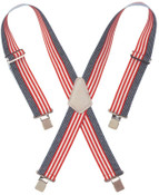 "CLC Custom Leather Craft RED WHITE & BLUE 2"" WIDEWORK SUSPENDERS, 1/EA, #110USA"