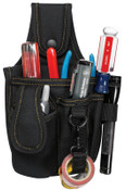CLC Custom Leather Craft Tool and Cell Phone Holders, 4 Compartments, Polyester, 2/EA, #1501
