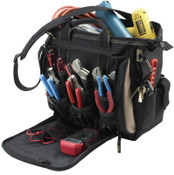CLC Custom Leather Craft Soft Side Tool Bags, 15 Compartments, 9 in X 9 in, 1/EA, #1529