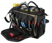 CLC Custom Leather Craft Soft Side Tool Bags, 57 Compartments, 14 in X 7 in, 1/EA, #1539