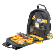 CLC Custom Leather Craft DeWalt USB Charging Tool Backpack, 23 Compartments, 19 4/5 in x  19 4/5 in, 1/EA, #DGC530
