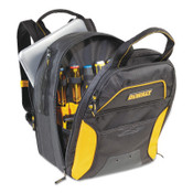 CLC CUSTOM LEATHER CRAFT USB Charging Tool Backpacks, 11in x 15 in, 33 Compartments, Yellow/Black, No LED, 1/EA, #DGC533