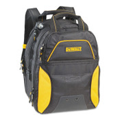 CLC CUSTOM LEATHER CRAFT USB Charging Tool Backpacks, 11in x 15 in, 33 Compartments, Yellow/Black, LED, 1/EA, #DGCL33