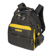 CLC Custom Leather Craft Lighted Tool Backpacks, 8 in x 15.5 in, 57 Compartments, Yellow/Black, 1/EA, #DGL523