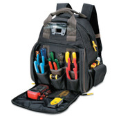 CLC Custom Leather Craft Tech Gear Lighted Backpack, 53 Compartments, 16 in X 13 in, 1/EA, #L255