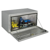 Apex Tool Group Underbed Truck Boxes, 36 in W x 18 in D x 18 in H, Aluminum, Silver, 1/EA, #408000