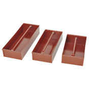 Apex Tool Group Delta Jobsite Removable Tray, 15 3/16 in W x 8 in D x 4 in H, Steel, Red, 1/EA, #620990