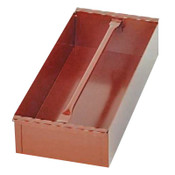 Apex Tool Group Delta Jobsite Removable Tray, 18 3/16 in W x 8 in D x 4 in H, Steel, Red, 1/EA, #628990