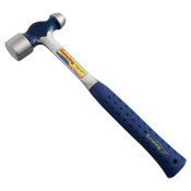 Estwing Ball Pein Hammer, Cushion Grip Steel Handle, 13 1/2 in, Steel 24 oz Head, 1/EA, #E324BP