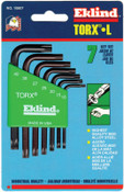 Eklind Tool 7-PC TORX SHORT ALLEN WRENCH SET W/HOLDER, 6/ST, #10807
