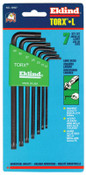 Eklind Tool 7-PC TORX LONG ALLEN WRENCH SET W/HOLDER  T, 1/SET, #10907