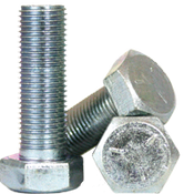 "1""-14x3"" Fully Threaded Hex Cap Screws Grade 5 Fine(UNS) Med. Carbon Zinc CR+3 (10/Pkg.)"