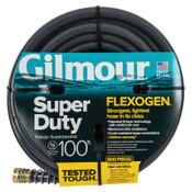 Gilmour Flexogen Super Duty Hoses, 5/8 in x 100 ft, Black, 1/EA, #8740011001