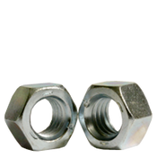 "3/8""-24 Finished Hex Nut, Grade 5, Fine Medium Carbon Steel, Zinc Cr+3 (100/Pkg.)"