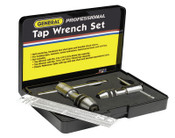 General Tools Ratcheting Tap Wrench Sets,  Length, No. 0 - No. 8, No. 12 - 1/2 in Tap Sizes, 1/EA, #165