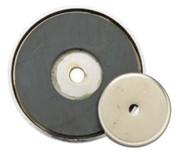 General Tools Shallow Pot Ceramic Magnets, 12 lb, 1 3/8 in Dia., 10/EA, #376A