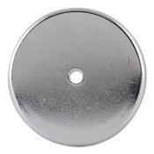 General Tools Shallow Pot Ceramic Magnets, 20 lb, 2 in Dia., 5/EA, #376B