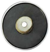 General Tools Shallow Pot Ceramic Magnets, 35 lb, 2 5/8 in Dia., 5/EA, #376C