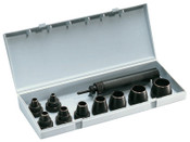 General Tools Professional 10-Piece Gasket Punch Sets, Round, English, 1/SET, #S1274