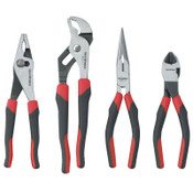 "Apex Tool Group 4 Pc Mixed Pliers Set, 9 1/2"" Tng & Groove, 7"" Dgnl; 8"" Long Nose; 8"" Slip Joint, 1/ST, #82103"
