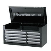 Apex Tool Group XL Series Chests, 42 in x 18 1/4 in x 20 1/2 in, 7,814 cu in, Black/Silver, 1/EA, #83156