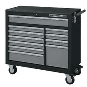 Apex Tool Group XL Series Drawer Roller Cabinets, 42 in x 19 in x 39 in, 11 Drawers,Black/Silver, 1/EA, #83157