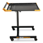 Apex Tool Group Adjustable Height Mobile Work Table, 35 to 48 in, 125 lb Capacity, Black/Orange, 1/EA, #83166