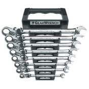 Apex Tool Group 8 Pc XL Locking Flex Combination Ratcheting Wrench Sets, 12 Point, SAE, 1/EA, #85798