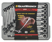 Apex Tool Group 12 Pc. XL X-Beam Combination Ratcheting Wrench Sets, Metric, 1/ST, #85888