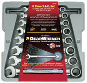 Apex Tool Group 8 Pc. Combination Ratcheting Wrench Sets, Inch, 1/EA, #9308D