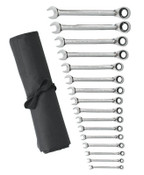 Apex Tool Group 16 Pc. Reversible Combination Ratcheting Wrench Sets, Metric, 1/ST, #9602RN