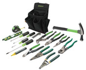 Greenlee 17 Pc. Journeyman's Tool Kits, 1/KT, #52024832