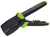 Greenlee Greenlee Terminal Crimping Tools with Die Sets, 8-26 AWG, Green/Black, 1/EA, #52028623