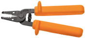 Klein Tools Insulated Wire Strippers, 6 in, 10-18 AWG, Orange, 1/EA, #11045INS
