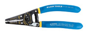 Klein Tools Kurve Wire Strippers/Cutters, 10-18 AWG Solid; 12-20 AWG Stranded, Blue/Yellow, 1/EA, #11055