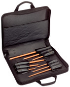Klein Tools 9 Pc. Cushion Grip Insulated Screwdriver Kits, Phillips; Slotted, Inch, 1/KIT, #33528