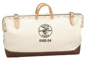 Klein Tools Canvas Tool Bag, 1 Compartment, 24 in X 6 in, 1/EA, #510224