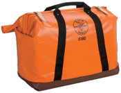 Klein Tools Extra-Large Nylon Equipment Bags, 1 Compartment, 10 in X 24 in, 1/EA, #5180