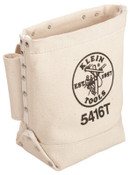 Klein Tools Bull-Pin and Bolt Bags, 3 Compartments, 10 in X 5 in, Canvas, 1/EA, #5416T