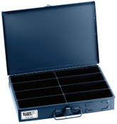 Klein Tools 8-Compartment Boxes, 13 5/16 in W x 9 3/4 in D x 2 in H, Gray, 1/EA, #54436