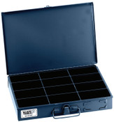 Klein Tools 12-Compartment Boxes, 13 5/16 in W x 9 3/4 in D x 2 in H, Gray, 1/EA, #54437