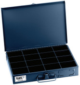 Klein Tools 16-Compartment Boxes, 13 5/16 in W x 9 3/4 in D x 2 in H, Gray, 1/EA, #54438
