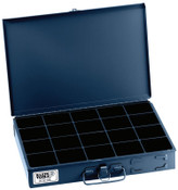 Klein Tools 20-Compartment Boxes, 13 5/16 in W x 9 3/4 in D x 2 in H, Gray, 1/EA, #54439