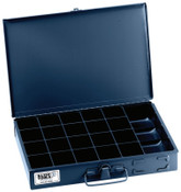 Klein Tools 21-Compartment Boxes, 13 5/16 in W x 9 3/4 in D x 2 in H, Gray, 1/EA, #54440