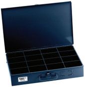 Klein Tools 16-Compartment Boxes, 18 in W x 12 in D x 3 in H, Gray, 1/EA, #54445