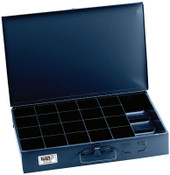 Klein Tools 21-Compartment Boxes, 18 in W x 12 in D x 3 in H, Gray, 1/EA, #54446