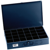 Klein Tools 24-Compartment Boxes, 18 in W x 12 in D x 3 in H, Gray, 1/EA, #54447