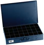 Klein Tools 32-Compartment Boxes, 18 in W x 12 in D x 3 in H, Gray, 1/EA, #54448
